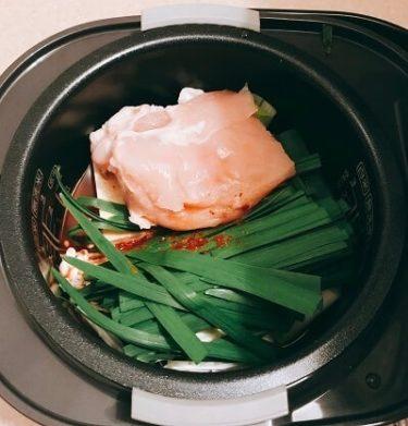 炊飯器、キムチ鍋、雑炊
