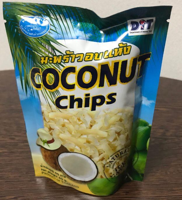 タイ、ココナッツチップス、お土産
